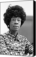 Blouse Canvas Prints - Congresswoman Shirley Chisholm Canvas Print by Everett