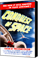 1955 Movies Canvas Prints - Conquest Of Space, 1955 Canvas Print by Everett