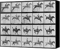 Inventors Canvas Prints - Consecutive Images Of Man Riding Canvas Print by Everett
