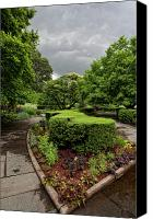 Storm Clouds Pastels Canvas Prints - Conservatory Garden Before the Storm 2 Canvas Print by Robert Ullmann