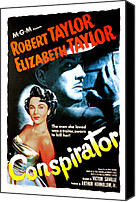 Elizabeth Taylor Canvas Prints - Conspirator, Elizabeth Taylor, Robert Canvas Print by Everett