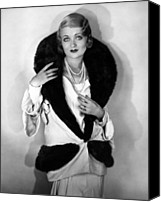 Bennett Canvas Prints - Constance Bennett, 1930 Canvas Print by Everett