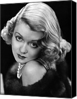 Bennett Canvas Prints - Constance Bennett, Circa 1930s Canvas Print by Everett