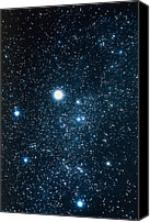Capella Canvas Prints - Constellation Auriga With Halo Effect Canvas Print by John Sanford