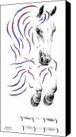 Prancing Canvas Prints - Contemporary Jumper Horse Canvas Print by Kelli Swan