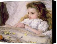 Sat Canvas Prints - Convalescent Canvas Print by Frank Holl