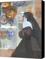 Nun Canvas Prints - Convent Bound Canvas Print by Patti Siehien