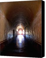 Nun Canvas Prints - Convent Corridor Shrouded in Shadow Canvas Print by Olden Mexico