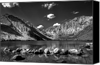 Monochrome Canvas Prints - Convict Lake near Mammoth Lakes California Canvas Print by Scott McGuire