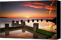 Wales Canvas Prints - Coogee Beach At Early Morning,sydney Canvas Print by Noval Nugraha Photography. All rights reserved.
