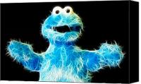 Want Canvas Prints - Cookie Monster - Sesame Street - Jim Henson Canvas Print by Lee Dos Santos