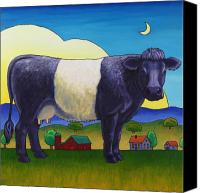 Cow Barn Canvas Prints - Cookies and Cream Canvas Print by Stacey Neumiller
