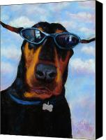 Pet Portrait Pastels Canvas Prints - Cool Dob Canvas Print by Billie Colson