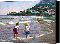 Little Girls Canvas Prints - Cooling Off Canvas Print by Roelof Rossouw