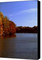Indiana Autumn Canvas Prints - Coonhunters Lake Canvas Print by Gary Wonning