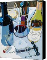 Wine Art Canvas Prints - Cooper Award Winners Canvas Print by Christopher Mize