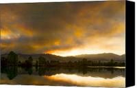 Buy Framed Prints Canvas Prints - Coot  Lake Sunset Boulder County Colorado Canvas Print by James Bo Insogna