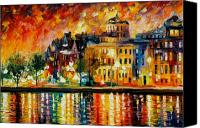 Afremov Canvas Prints - COPENHAGEN Original Oil Painting  Canvas Print by Leonid Afremov