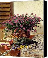 Arrangement Painting Canvas Prints - Copper and Lace Canvas Print by David Lloyd Glover