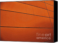 Abstract Building Canvas Prints - Copper Edge Canvas Print by Marsha Heiken