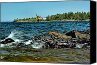 Copper Harbor Canvas Prints - Copper Harbor Lighthouse in Autumn Canvas Print by Matthew Winn