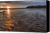 Copper Harbor Canvas Prints - Copper Harbor Sunrise Canvas Print by Matthew Winn