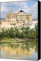 Great Mosque Canvas Prints - Cordoba Cathedral and Guadalquivir River Canvas Print by Artur Bogacki