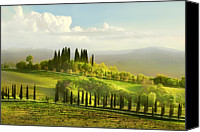 Mountain Scene Canvas Prints - Coreografia Toscana--choreography Tuscany Canvas Print by Ottini Graziano