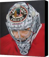 Hockey Sweater Canvas Prints - Corey Crawford Canvas Print by Brian Schuster