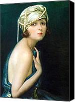 Pin-up Painting Canvas Prints - Corinne Griffith 1920 Canvas Print by Stefan Kuhn