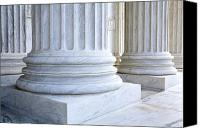 Washington Dc Canvas Prints - Corinthian Columns, United States Supreme Court, Washington DC Canvas Print by Paul Edmondson