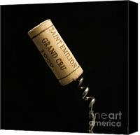 Corks Canvas Prints - Cork of bottle of Saint-Emilion Canvas Print by Bernard Jaubert