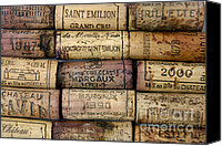 Background Pyrography Canvas Prints - Corks of French wine Canvas Print by Bernard Jaubert