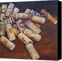 Corks Canvas Prints - Corks Canvas Print by Patricia DeHart