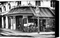 Corner Cafe Canvas Prints - Corner Cafe Canvas Print by John Rizzuto