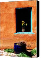 Santa Fe Canvas Prints - Corner in Santa Fe NM Canvas Print by Susanne Van Hulst