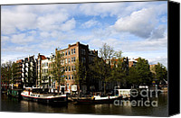Boathouse Canvas Prints - Corner of Prinsengracht and Brouwersgracht Canvas Print by Fabrizio Troiani