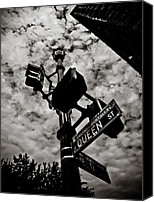 Crosswalk Canvas Prints - Corner of Queen Canvas Print by Jessica Brawley