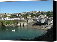 Cliff Canvas Prints - Cornish Fishing Village Of Port Isaac, Cornwall Canvas Print by Thepurpledoor