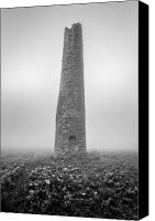 Kernow Canvas Prints - Cornish mine chimney Canvas Print by John Farnan