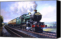 Train Painting Canvas Prints - Cornish Riviera Express. Canvas Print by Mike  Jeffries