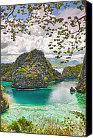 Filipino Canvas Prints - Coron lagoon Canvas Print by MotHaiBaPhoto Prints