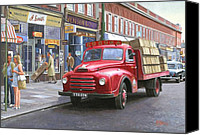 1960 Painting Canvas Prints - Corona drinks lorry. Canvas Print by Mike  Jeffries