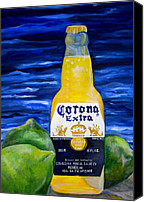 Limes Canvas Prints - Corona Canvas Print by Patti Schermerhorn