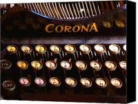Typewriter Canvas Prints - Corona Canvas Print by Timothy Bulone