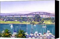Bay Bridge Canvas Prints - Coronado Bay Bridge Canvas Print by Mary Helmreich