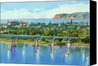Bay Bridge Canvas Prints - Coronado Island California Canvas Print by Mary Helmreich