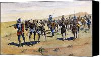 New World Canvas Prints - Coronados March, 1540 Canvas Print by Granger