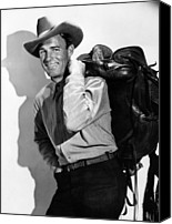 1948 Movies Canvas Prints - Coroner Creek, Randolph Scott, 1948 Canvas Print by Everett
