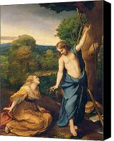 Magdalene Canvas Prints - Correggio Canvas Print by Noli Me Tangere